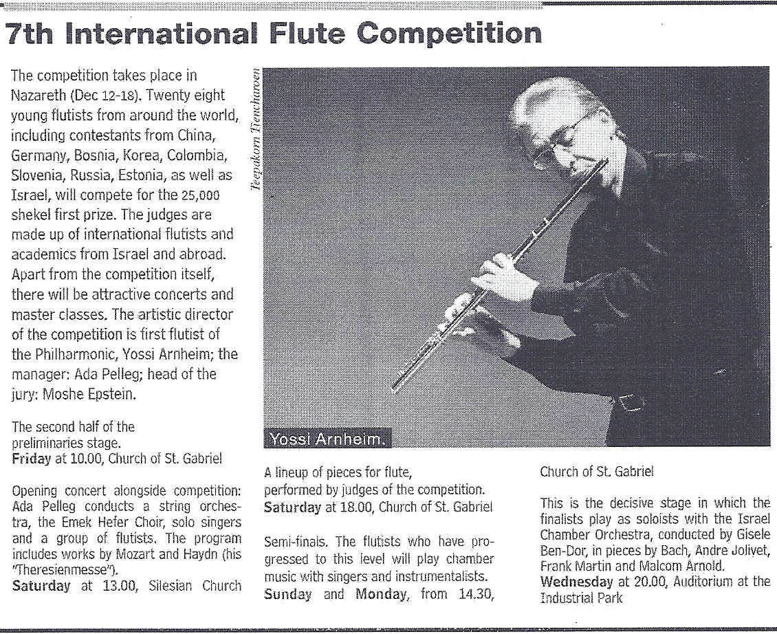 2013 ,7th International Flute Competition